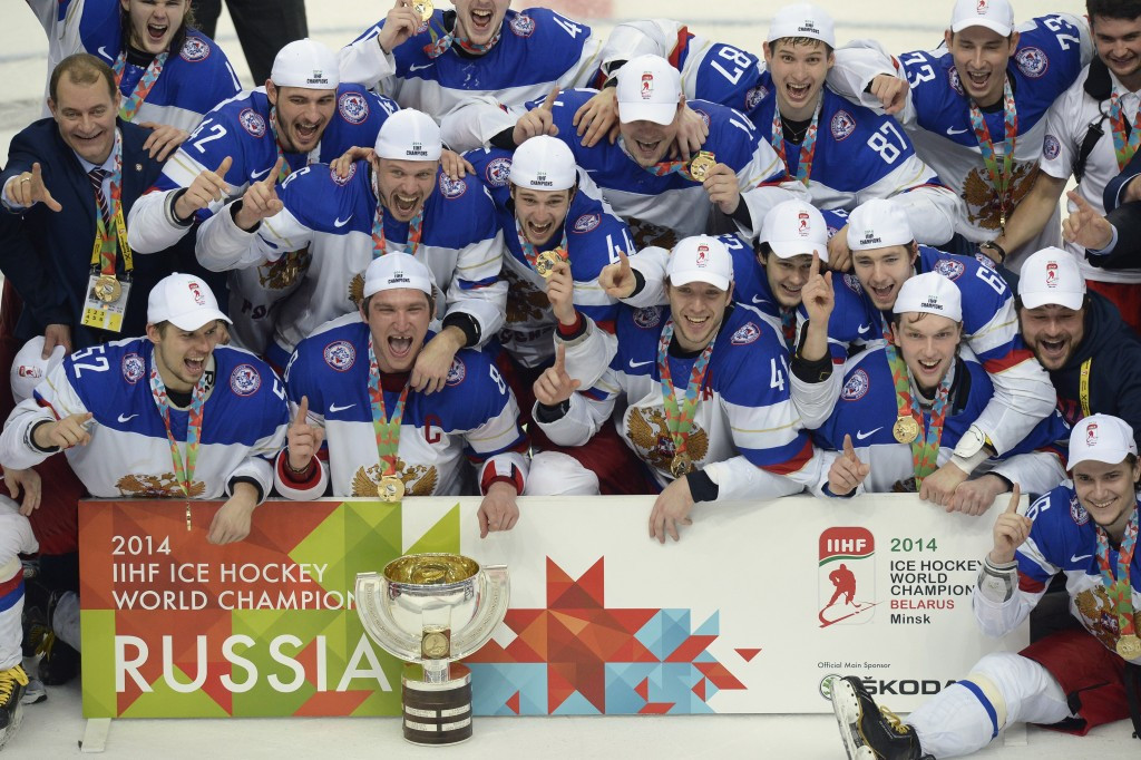 Minsk hosted the IIHF World Championships in 2014, when Russia claimed their fifth title ©Getty Images