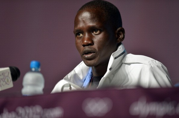 US-based South Sudanese marathon runner Guol Mariol competed at the London 2012 Olympic Games as an independent athlete ©AFP/Getty Images