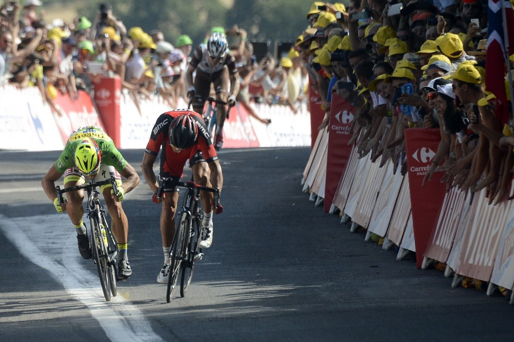 Belgian van Avermaet claims maiden Tour de France stage victory after beating Sagan in sprint