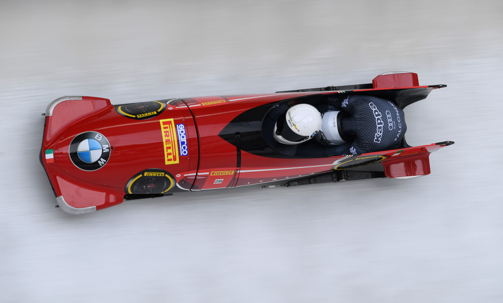 Patrick Baumgartner and Mattia Variola are among members of the Italian bobsleigh team ©Getty Images