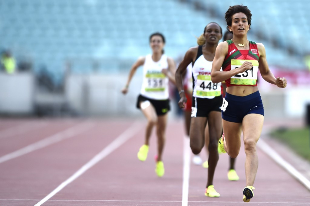 Rababe Arafi won the women's 1,500m gold ©Getty Images