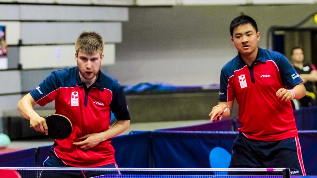 France's Lucas Creange and Antoine Zhao tasted success in the men's class 11 event ©Richard Kalocsai/ITTF