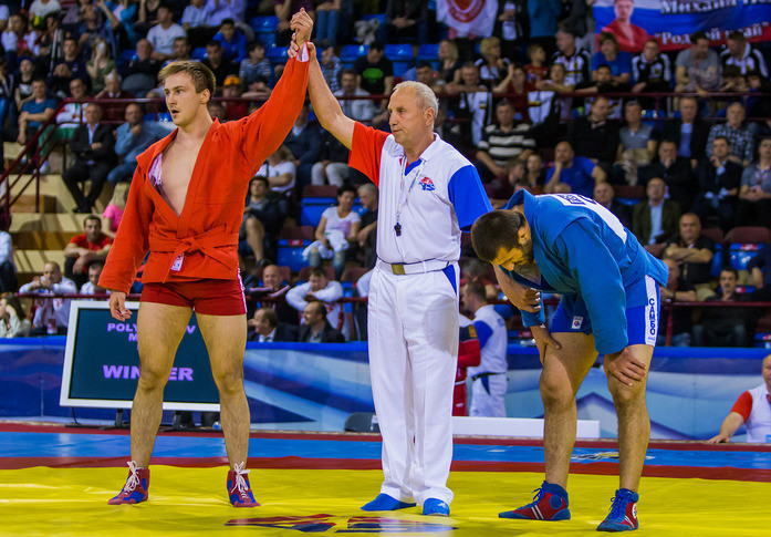 Russia's other triumph came courtesy of Michail Polyanskov, who edged Georgia's Paata Ghviniashvili in the men's 90kg final ©FIAS