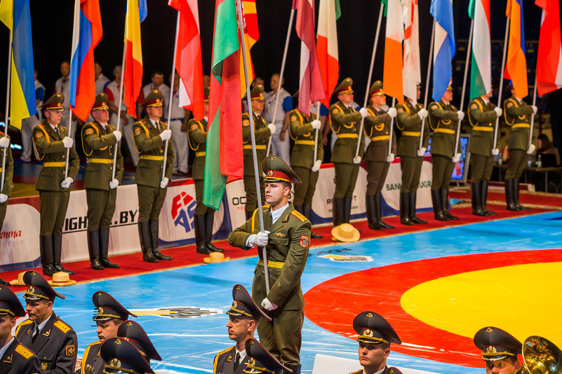 Today's action was preceded by the Opening Ceremony, which included the traditional Parade of Nations ©FIAS