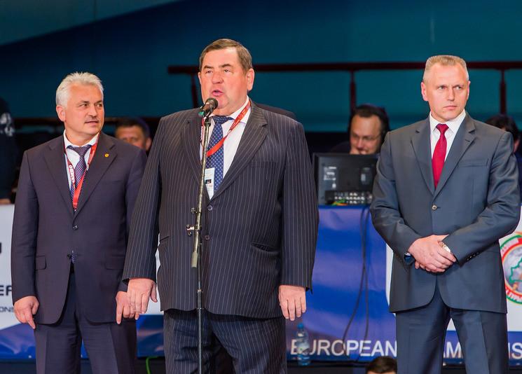 International Sambo Federation President Vasily Shestakov was among the speakers during the Ceremony ©FIAS