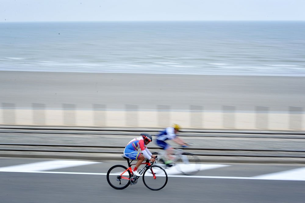 The Para-Cycling Road World Cup in Ostend continued with road race ©Twitter/UCI Para-Cycling
