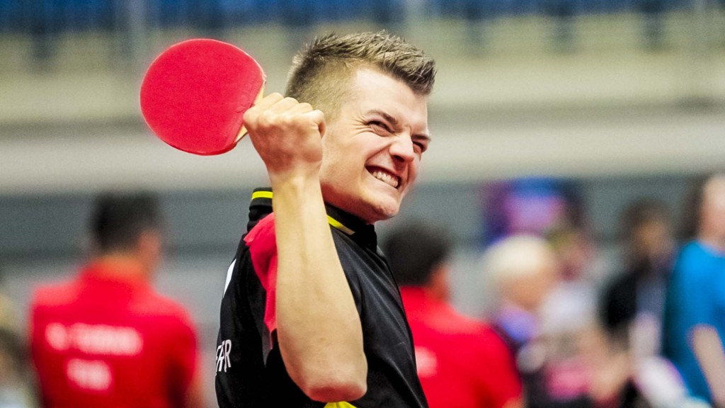 Thomas Schmidberger contributed to Germany's success in the men's class three event ©Richard Kalocsai/ITTF