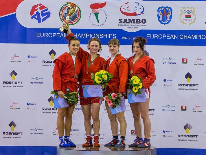 Matsko doubles Belarus' gold medal tally at 2017 European Sambo Championships
