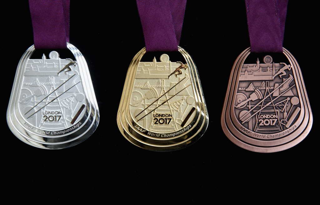 London 2017 unveil medal designs for World Championships