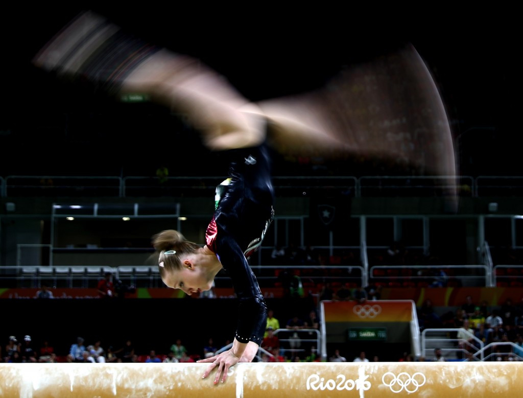 Gymnast Irina Sazonova competed for Iceland at Rio 2016 ©Getty Images