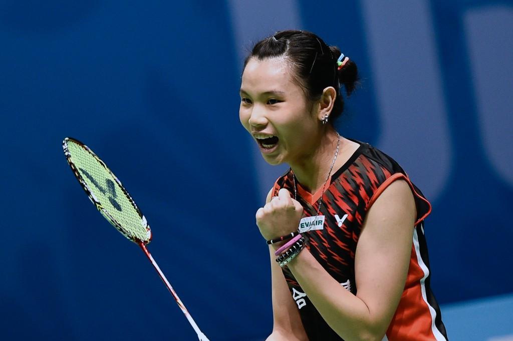 Sun Yu won her women's singles match ©Getty Images