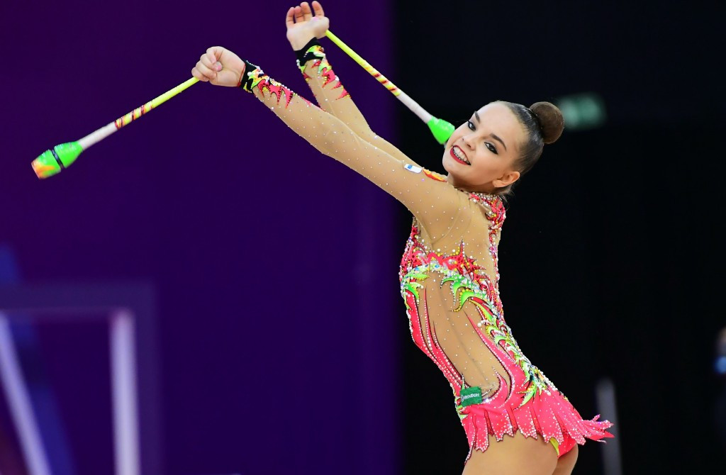 Dina Averina took gold in the hoop and ribbon events ©Getty Images