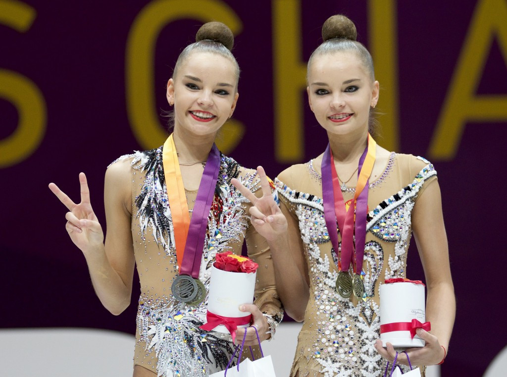 Dina and Arina Averina evenly shared four gold medals today ©UEG