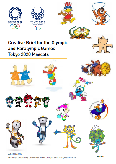Tokyo 2020 have produced a creative brief for the Olympic and Paralympic Games mascots ©Tokyo 2020