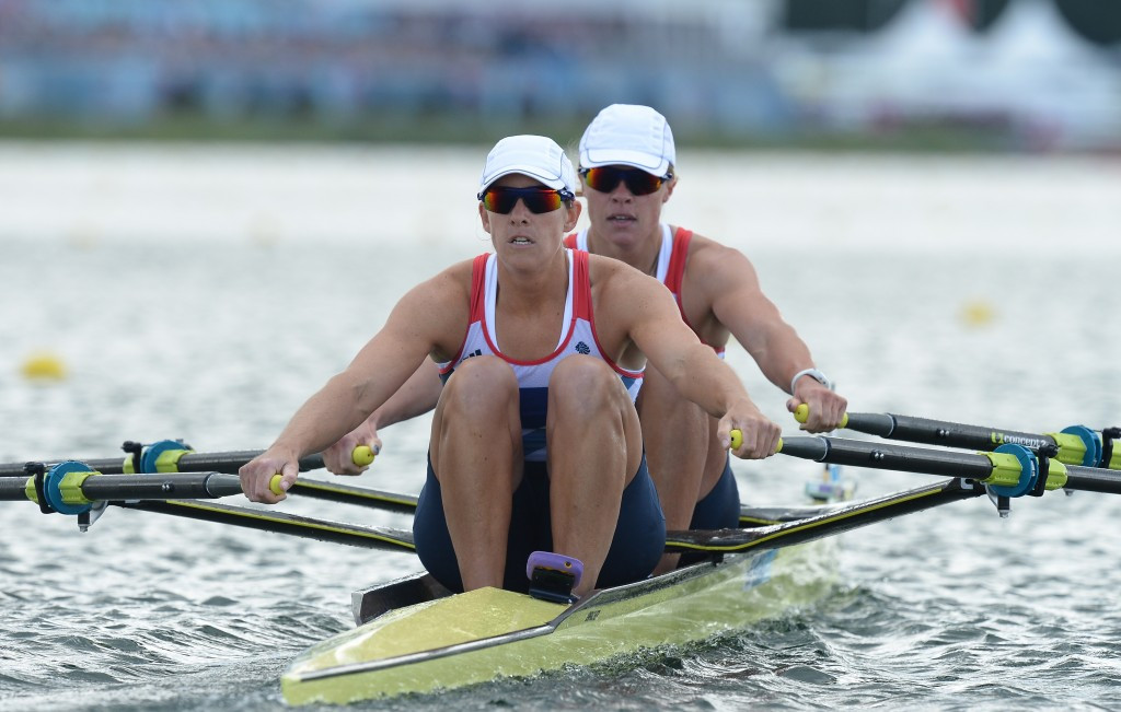 Great Britain claimed 26 Olympic medals under Dame Di Ellis' chairmanship, including women's double sculls gold for Anna Watkins and Dame Katherine Grainger at London 2012 ©Getty Images