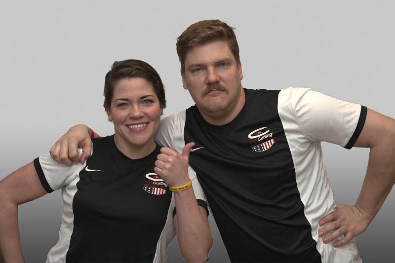 Rebecca and Matt Hamilton represented the USA at the World Championships last month ©USA Curling