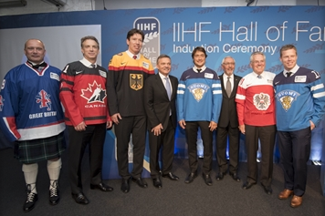 The Hall of Fame Ceremony took place as the IIHF World Championships drew to a close ©IIHF