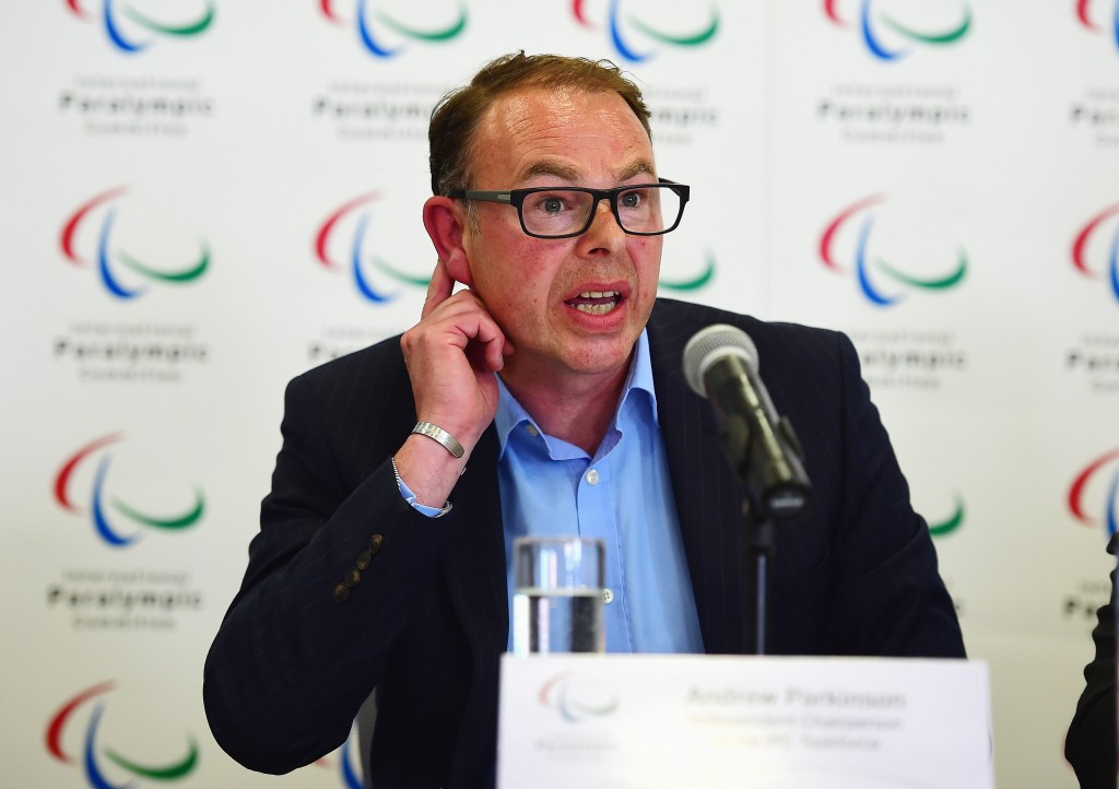 International Paralympic Committee Taskforce chair Andy Parkinson claimed an official response to the McLaren Report is still required from Russia before a ban can be lifted ©Getty Images