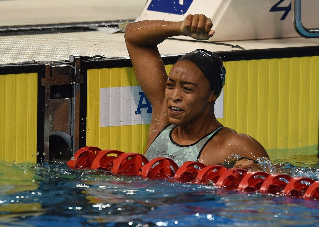 Bahamas claimed their first gold medal of the Games tonight courtesy of Arianna Vanderpool-Wallace ©Getty Images