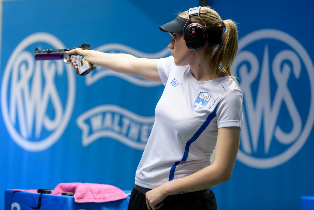 Olympic champion Korakaki wins first ISSF World Cup title