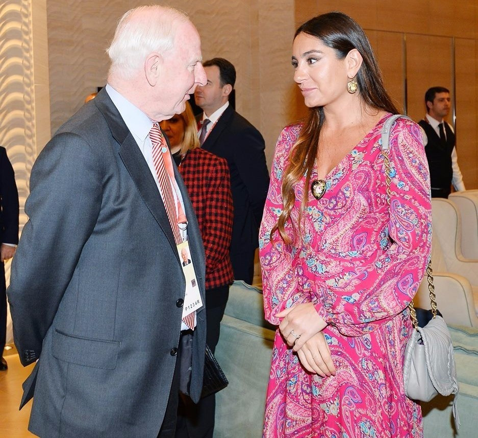 Patrick Hickey was pictured at the Closing Ceremony of the Islamic Solidarity Games ©Facebook/Ilham Aliyev