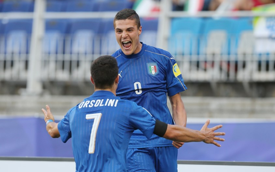 Goals from Ricarrdo Orsolini and Andrea Favilli handed Italy a 2-0 win over South Africa ©Getty Images