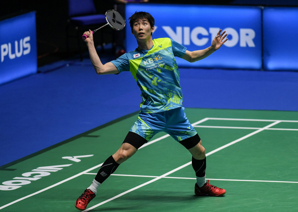 Son Wan-ho gained a crucial men's singles success for South Korea in their quarter-final ©Getty Images