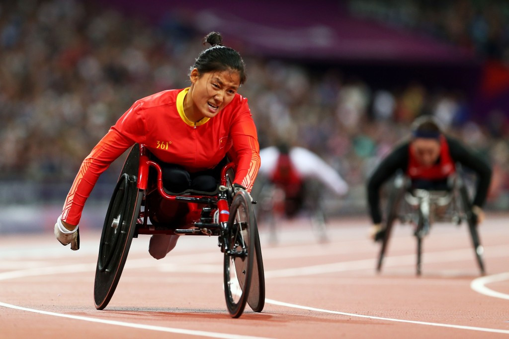 China's Hu breaks long jump world record at IPC Athletics Grand Prix in Beijing