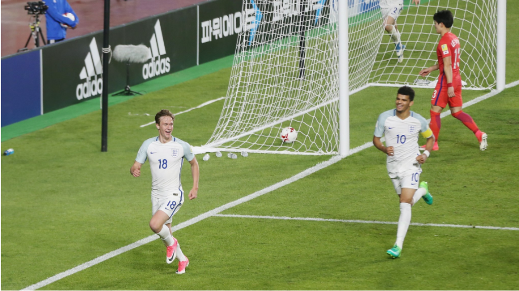 England beat hosts South Korea to win group at FIFA Under-20 World Cup