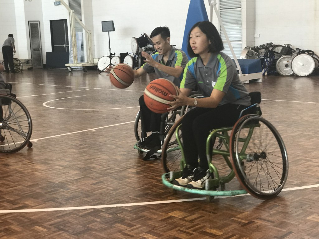 The aim of the clinic was to introduce current basketball officials to the wheelchair game ©IWBF