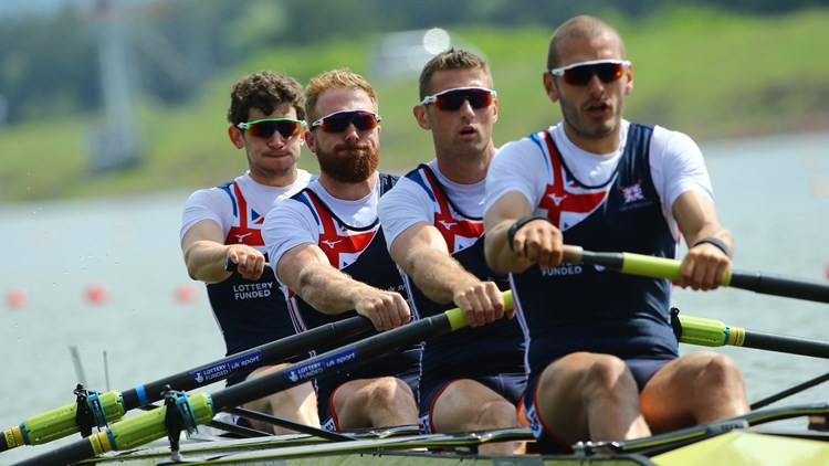 Britain make good start to men's four title defence at European Rowing Championships