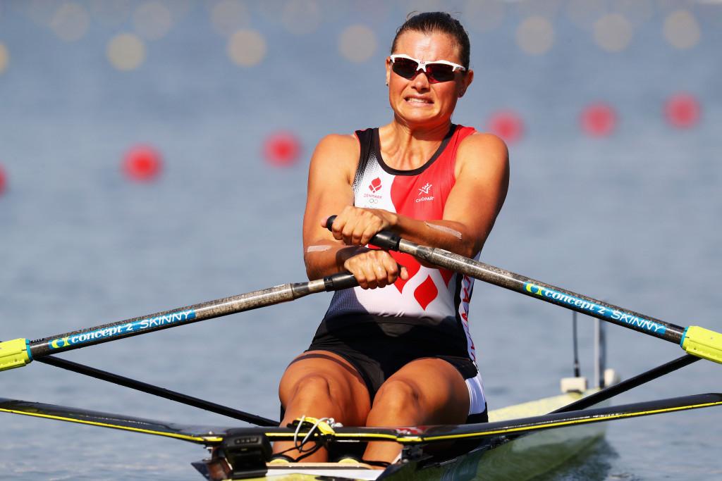 Denmark's Fie Udby Erichsen won her women's single sculls heat today ©Getty Images