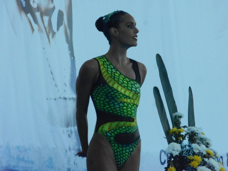 Carbonell tops preliminary round in home water at Synchronised Swimming World Series