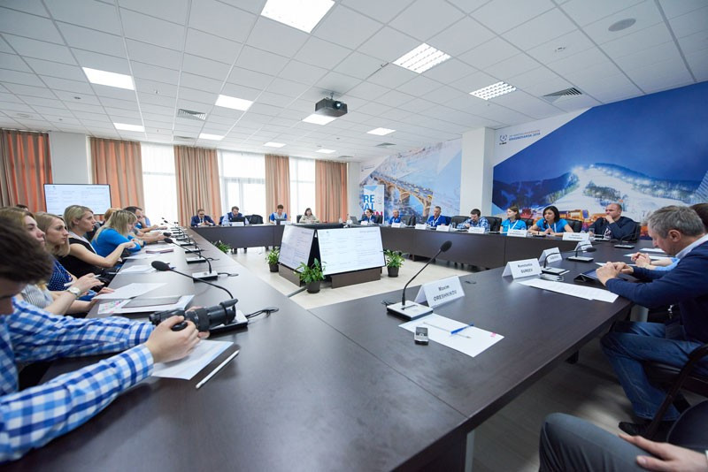 Winter Universiade Organising Committee officials meet to share ideas at debrief