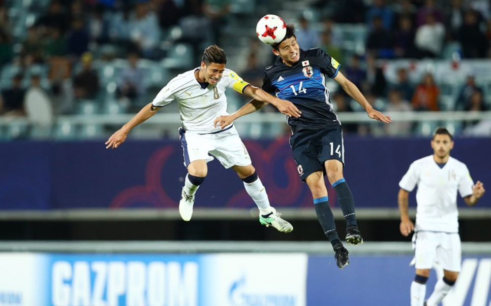 Italy and Japan played out a 2-2 draw ©Getty Images