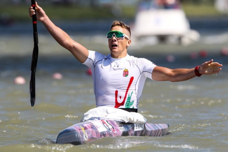 Kopasz delights home crowd with surprise success at Canoe Sprint World Cup