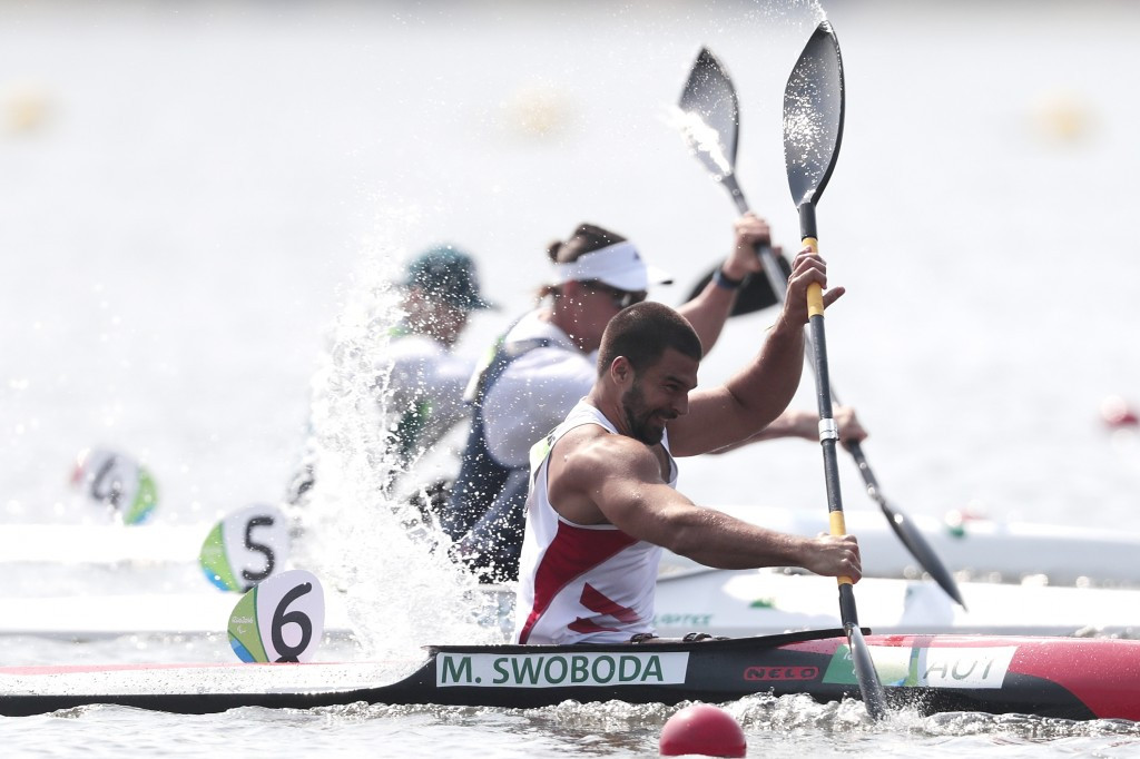 Swoboda claims gold at Para-canoe World Cup