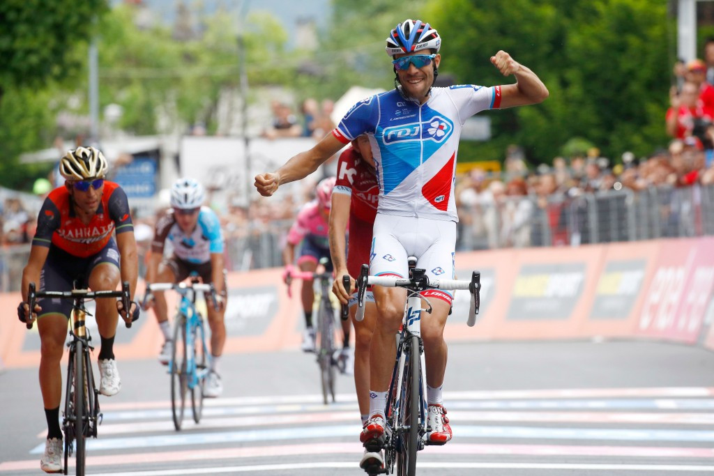 Quintana holds narrow Giro d'Italia lead as Pinot wins penultimate stage