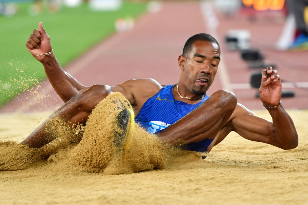 Christian Taylor triple jumped 18.11m, the fourth best ever, at the Eugene Diamond League meeting ©Getty Images