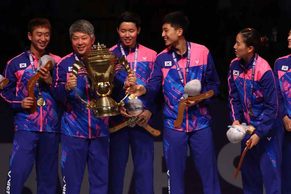 South Korea have won their fourth Sudirman Cup title ©Getty Images