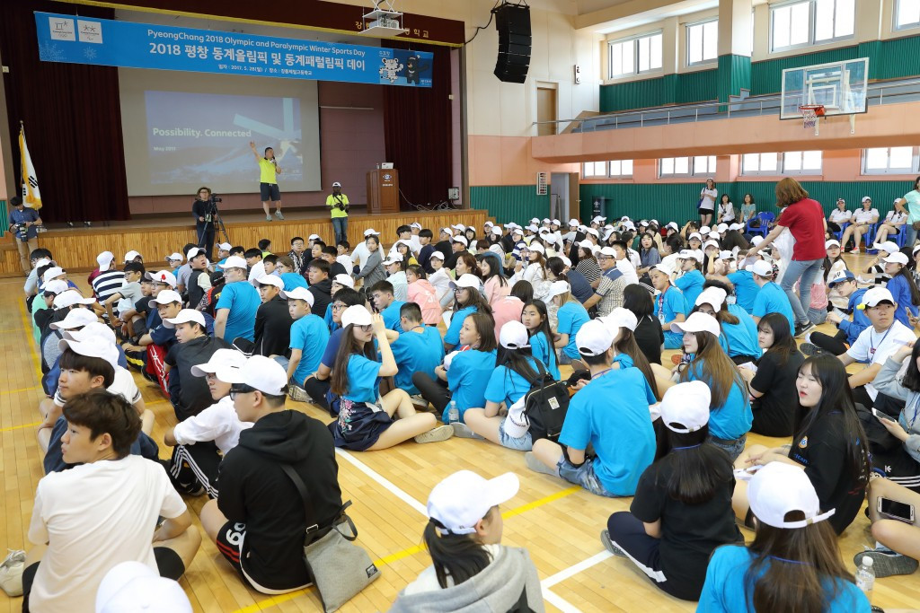 Over 400 students and teachers from seven Asian countries - South Korea, Japan, China, Russia, Kazakhstan, Indonesia and The Philippines - were invited to participate at the festival ©Pyeongchang 2018