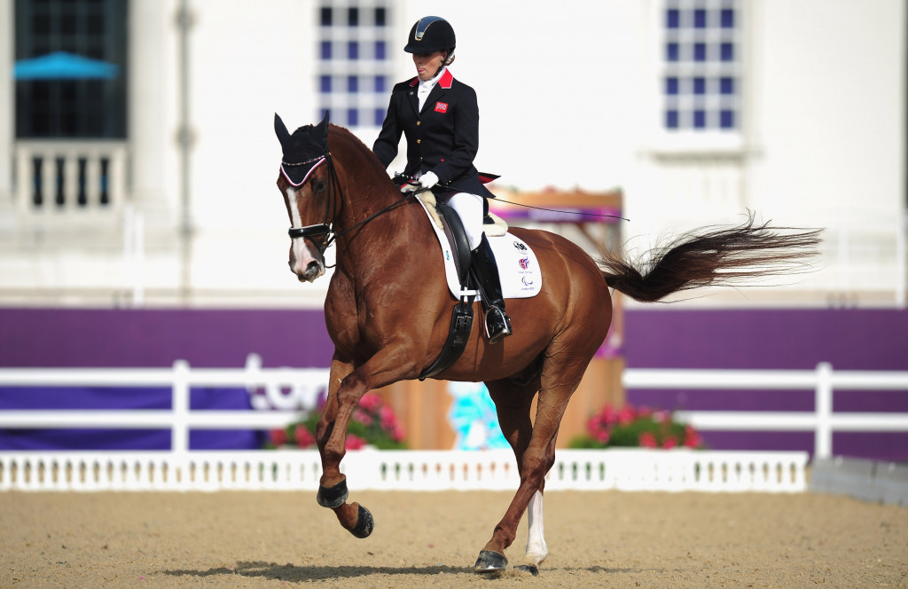 Sophie Wells was another leading British Para-dressage rider in attendance ©Getty Images