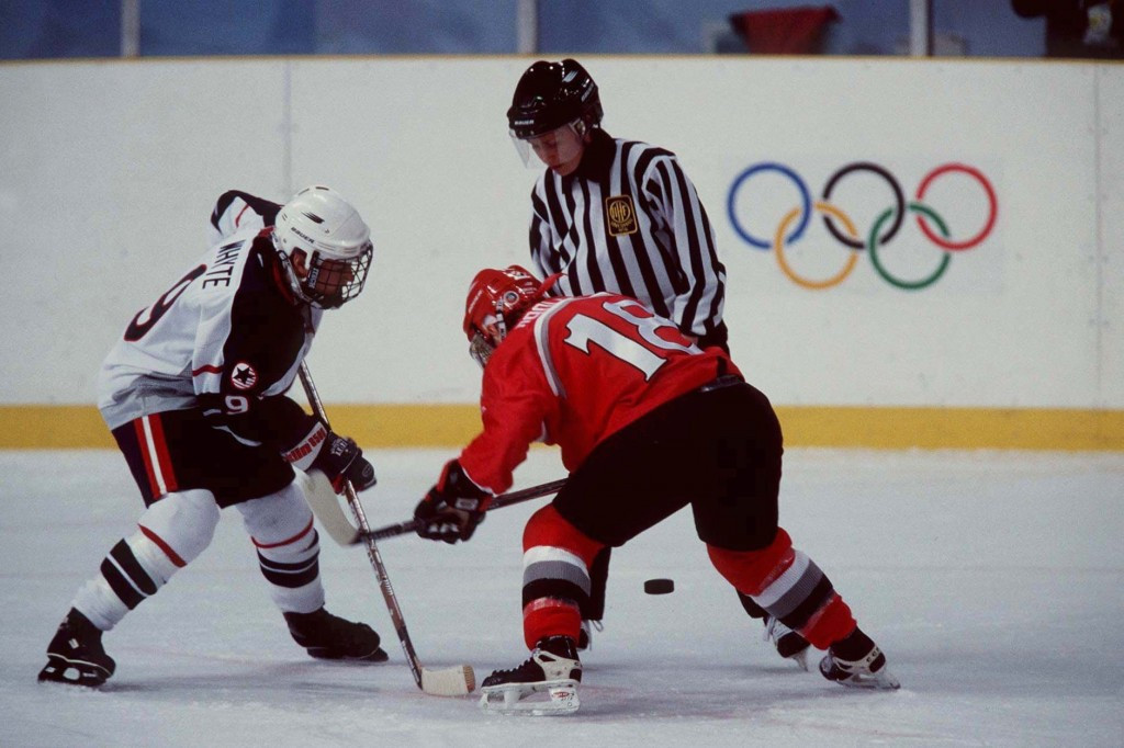 The United States beat Canada in the Nagano 1998 final ©Getty Images
