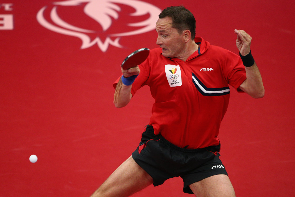 Jean-Michel Saive is a former world number one and one of the greatest table tennis players of his generation ©Getty Images