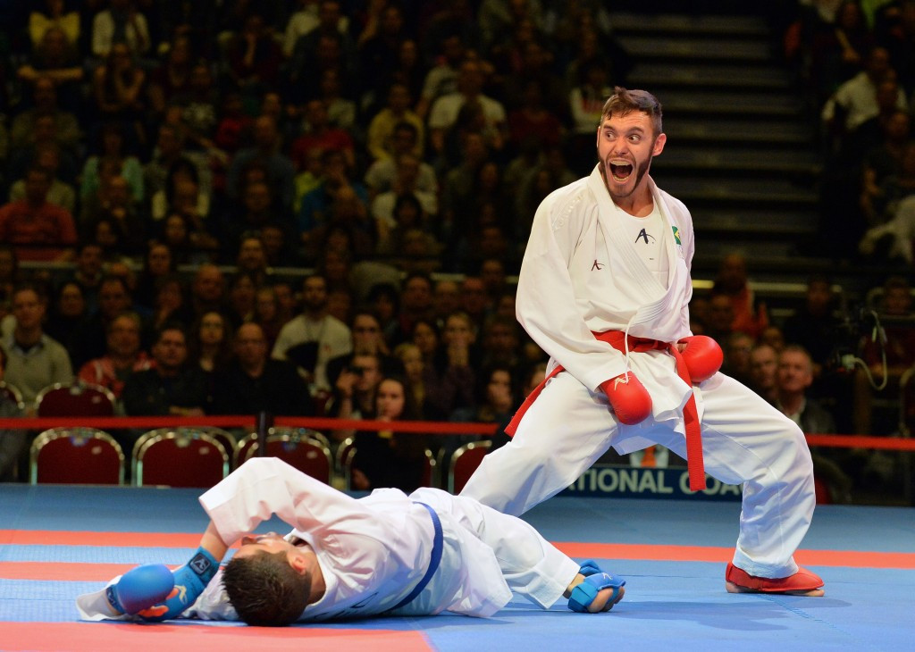 Douglas Brose continued his domination of the men's 60 kilogram kumite division ©Getty Images