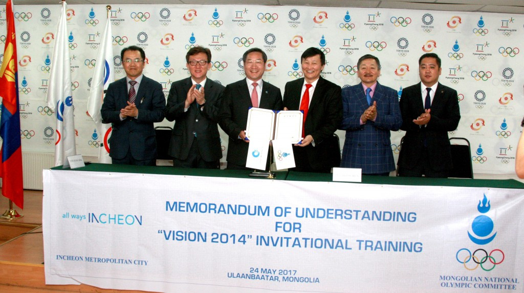 Mongolian National Olympic Committee sign MoU with Incheon