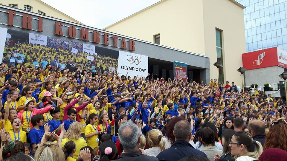 Thousands of children participate in Olympic Day celebrations in Kosovo