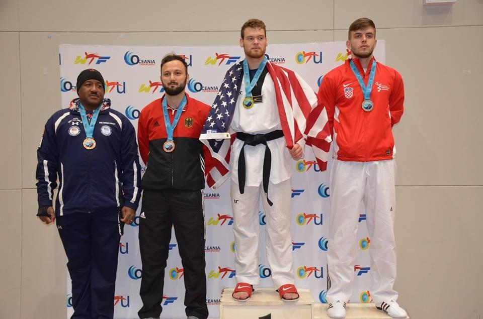 Australia's Steven Currie defended his men's K42 75kg title ©World Taekwondo Federation