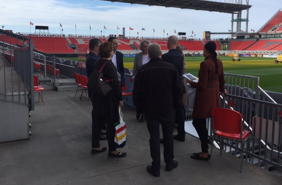 A delegation from the Commonwealth Games Federation visited Toronto last week ©CGF