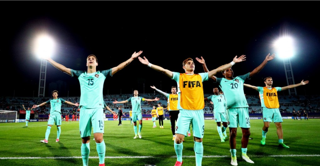 Two-time winners Portugal are through to the quarter-finals of the FIFA Under-20 World Cup after beating hosts South Korea 3-1 at the Cheonan Sports Complex today ©Getty Images